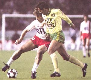 Safet Susic face à Nantes en 1985-1986