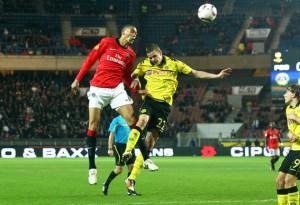Hoarau face à Dortmund