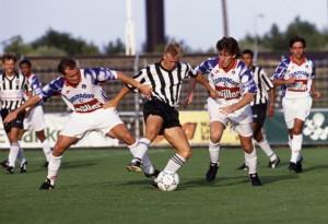 Guérin et Reynaud face à Landskrona en 1992