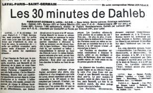 le résumé du match dans l'Équipe rend hommage à Dahleb