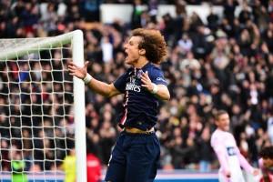 David Luiz, premier buteur au Parc en 2015 face à Evian