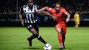 Paris et Lucas lors du nul 0-0 à Angers