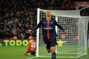 Ibrahimovic, le seul triplé pour Paris contre Lorient