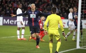 Ibra face à Lyon en coupe