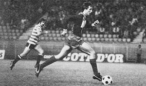 Johan Cruyff face au Sporting Lisbonne