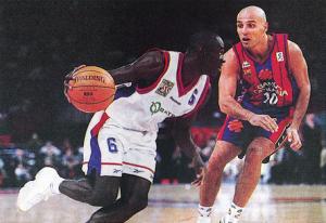 Le PSG Racing face au Barca en 1997