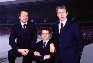 Michel Denisot, Alain Roche et Luis Fernandez : trois hommes clés du PSG 1996