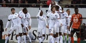 la joie des Parisiens à Lorient cette saison en L1