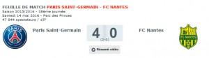 le record précédent : PSG-Nantes pour les adieux d'Ibra