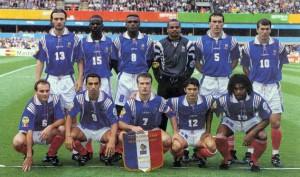 l'équipe de France à l'Euro 1996