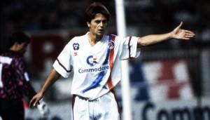 Daniel Bravo, attaquant de pointe au PSG en 1991