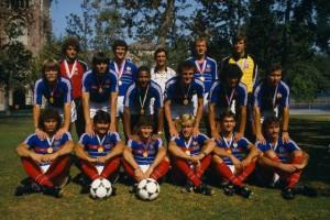 La joie des Bleus en 1984