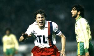 la joie de Luis Fernandez après son but face aux Canaris