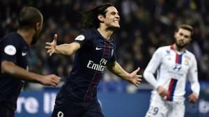 Cavani, top buteur du PSG face à Lyon