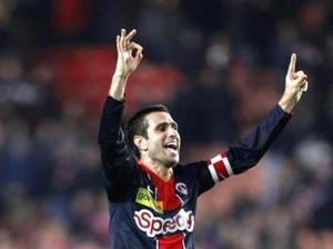 la joie de Pauleta près son but contre Montpellier