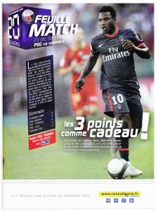 PSG-Grenoble le 23 décembre 2009