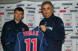 """Serguei Semak et le souriant """"coach"""" Vahid"""