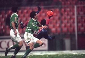 le but de Dely Valdes face aux Verts en 1995