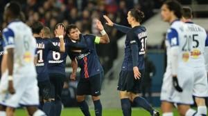 la joie des Parisiens face à Bastia en 2016