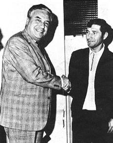 Fernando Cruz et le président Henri Patrelle