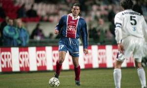 une des rares apparitions de Didier Martel sous le maillot parisien