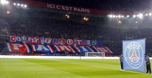 le tifo parisien avant PSG-Monaco