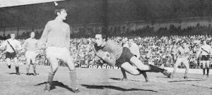 Camille Choquier face à Nice (1-1) lors de la saison 1971-1972