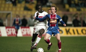 Cisco Llacer, lors du premier Monaco-PSG en Coupe de la Ligue, en 1999