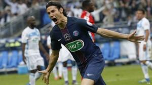 Cavani, buteur lors de la  finale face à Marseille