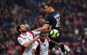 le premier match de la série pour Ibra et le PSG face à Nice la saison dernière