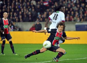 la dernière défaite du PSG face à Lyon en Coupe de France, avec Lugano