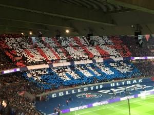 le tifo parisien avant PSG-Lyon