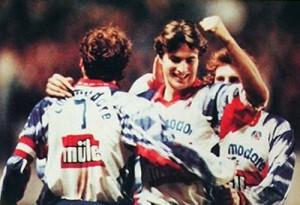le premier but de David Ginola au PSG