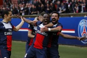 la joie de Matuidi après son but face à Evian TG