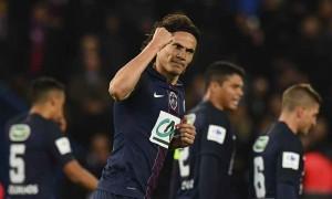 la joie de Cavani lors de la victoire 5-0 la saison dernière