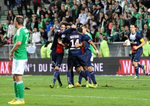 la joie des Parisiens après le but de Matuidi à Saint-Etienne