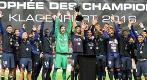 Thiago Motta, capitaine du PSG lors du trophée des champions 2017