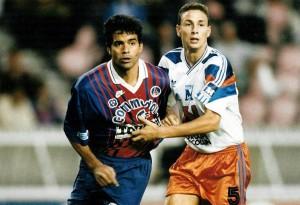 les débuts de Rai face à Montpellier en 1993-1994