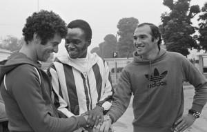 Premier entraîneent en 1977 pour Dahleb, M'Pelé et Bianchi