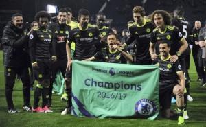 ... et Chelsea, champion d'Angleterre 2016-2017