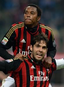 Robinho et Kaka au Milan AC