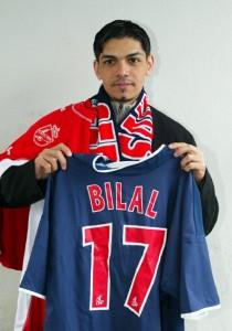 Bilal numéro 17 du PSG en 2003...