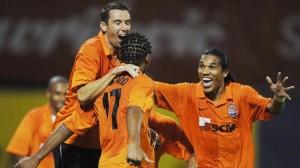 Luiz Adriano et Brandao sous le maillot du Shakhtar