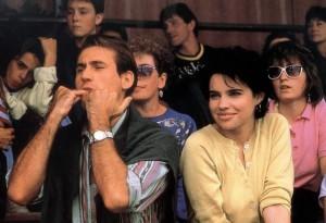 Béatrice Dalle en tribune - sans Joey Starr, à l'image du film Chimères en 1989