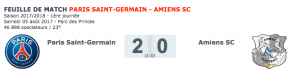 PSG-Amiens dans le top 10