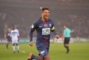 la joie de Thiago Silva lors du 7-0 contre Bastia