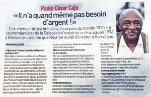 l'interview de Paulo Cesar dans l'Equipe