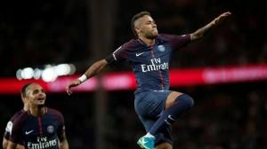 la joie de Neymar après le dernier but contre Toulouse