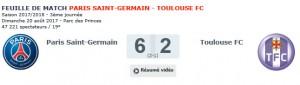 PSG-Toulouse dans le top 10 du club