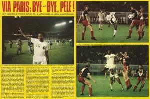 les adieux de Pelé dans le magazine Onze
